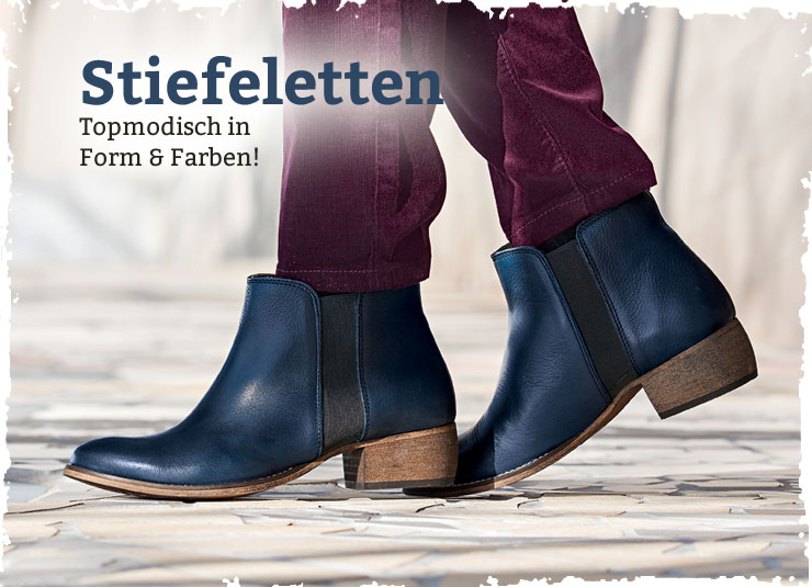 Stiefelette in Farbe navy