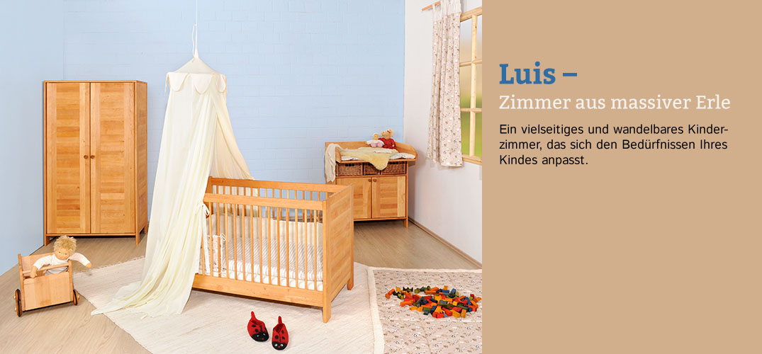 kinderzimmer luis erlenholz im waschb r shop bestellen. Black Bedroom Furniture Sets. Home Design Ideas
