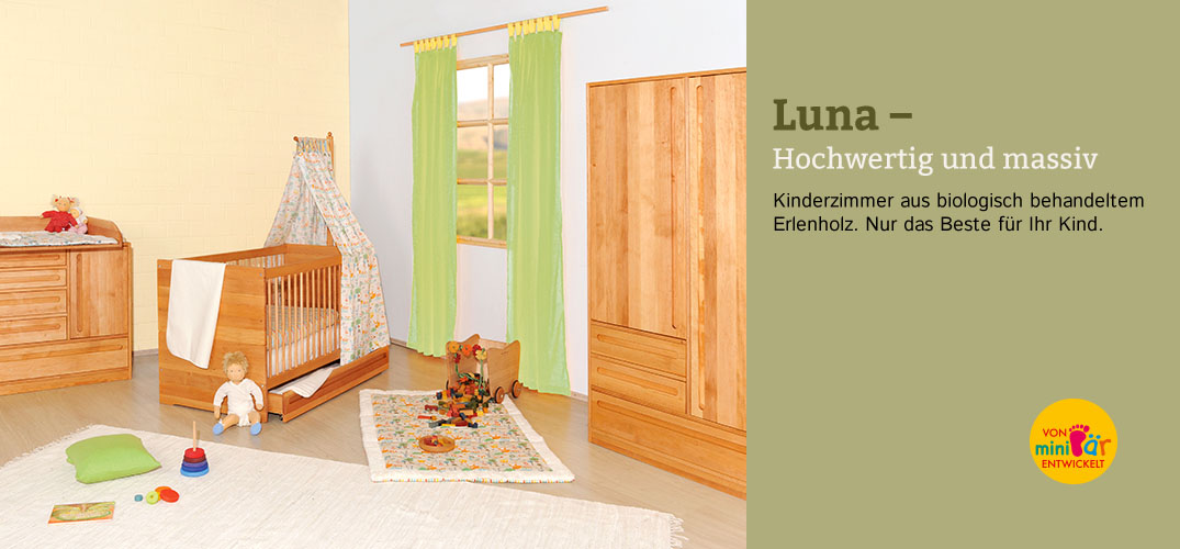 kinderzimmer luna erlenholz im waschb r shop bestellen. Black Bedroom Furniture Sets. Home Design Ideas