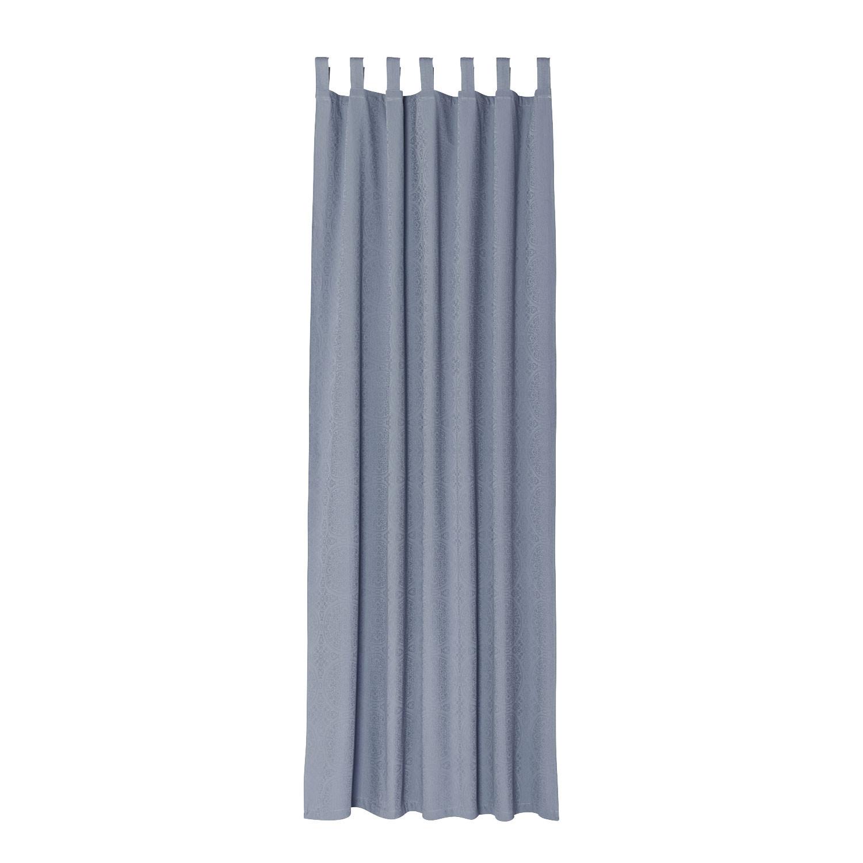Damast-Vorhang (1 Stück), rauchblau