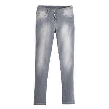 "Bio Jeans ""Die Modische"", grey-washed"