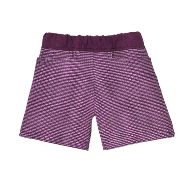 Shorts aus Jacquard-Strick, lila/beere