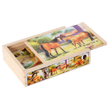 Holz-Puzzleset Tiere