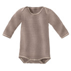 Baby-Body Langarm, taupe