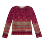 Jacquard-Pullover,beere-gemust