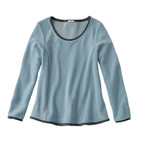 Fleece-Pullover 1/1A,eisblau
