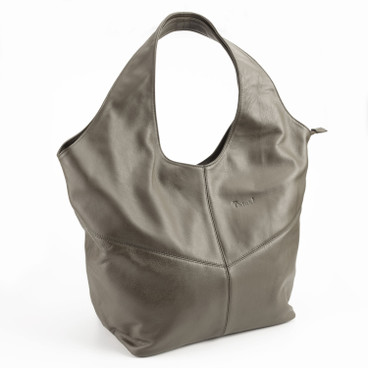 Ledertasche, taupe