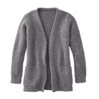 Strickjacke 1/1Arm, kiesel