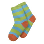 Kindersocken, apfelgrün-multic