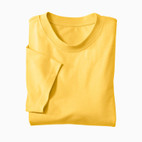 Basic-T-Shirt, gelb