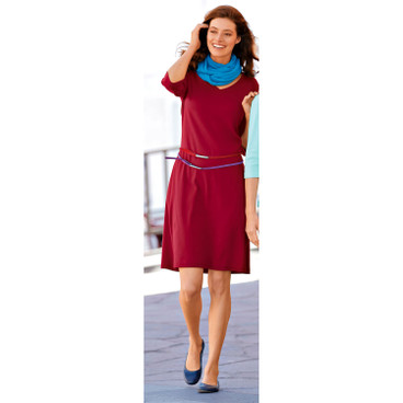 Shirtkleid, plum