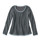Fleece-Pullover 1/1A,schiefer