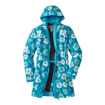 Damen Funktionsmantel BLOOMY COAT, arctic-bunt
