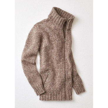 Strickjacke, nougat