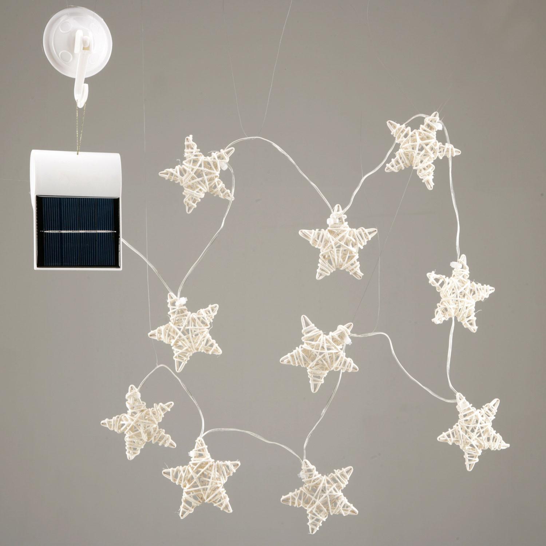 solar led lichterkette rattansterne. Black Bedroom Furniture Sets. Home Design Ideas