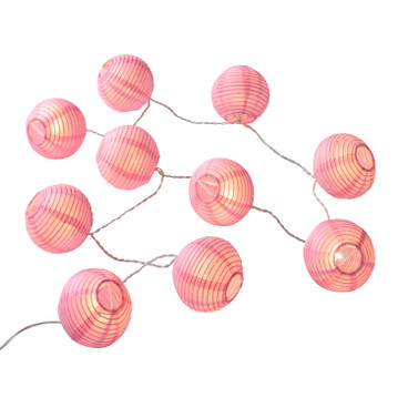 LED-Lampion-Lichterkette, rosa