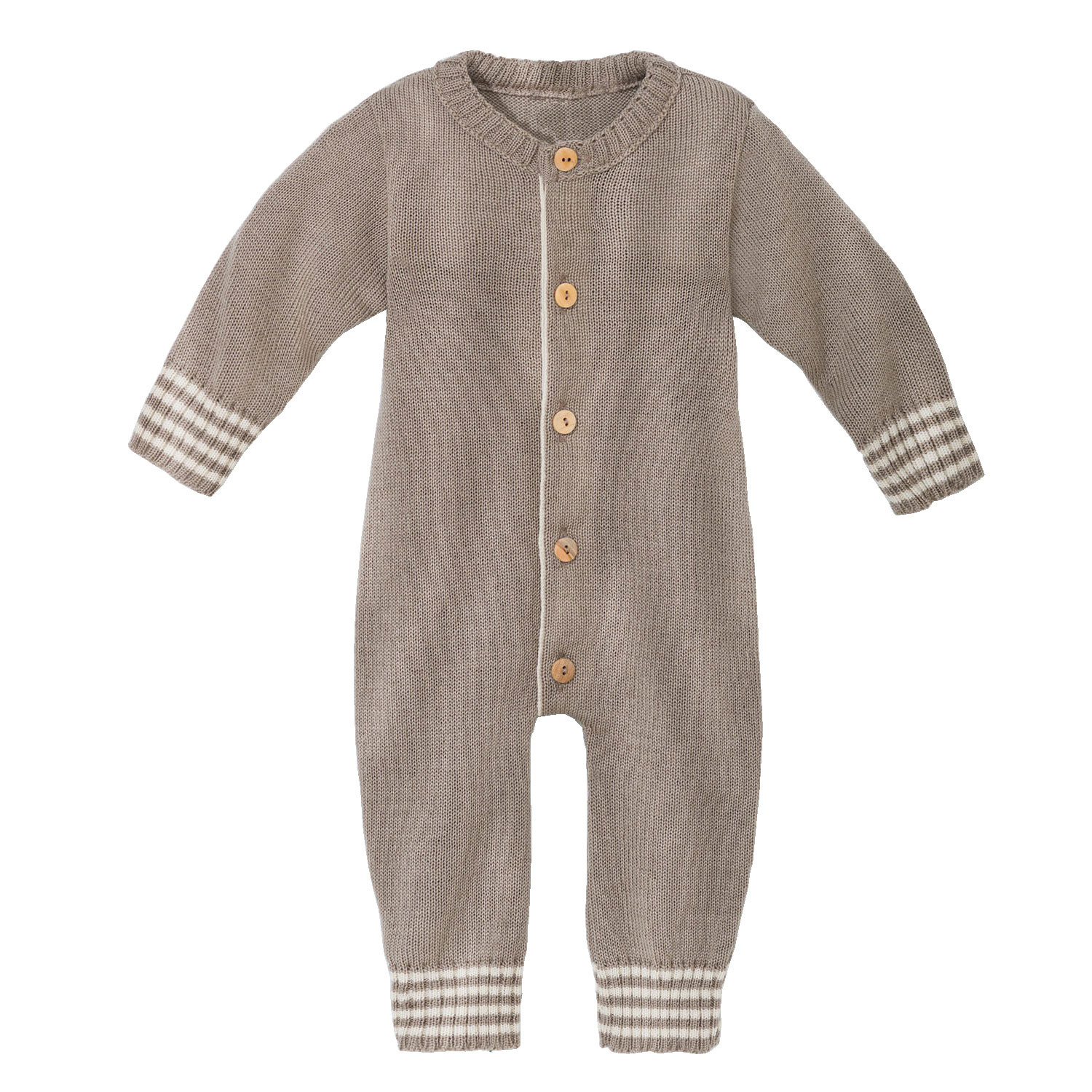 Wollstrick-Overall, taupe