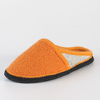 Pantoffel 2-fb., orange/grau-meliert