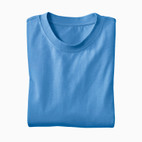 Basic-T-Shirt, jeansblau