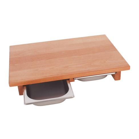 schneidebrett aus holz mit schubladen waschb r. Black Bedroom Furniture Sets. Home Design Ideas