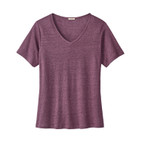 Shirt V-Neck 1/2Arm,cassis