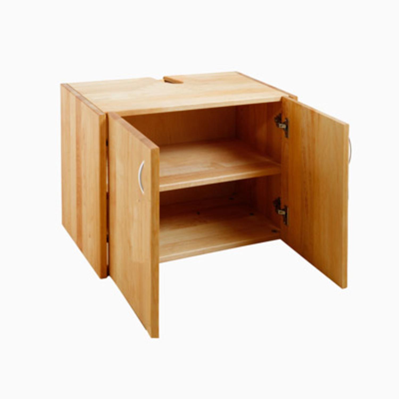 Waschbeckenunterschrank Holz aus erlenholz