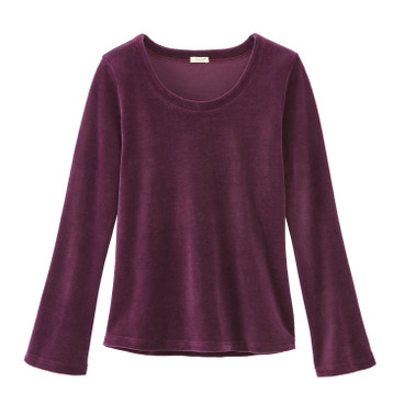 Nicki-Shirt aus reiner Bio Baumwolle, purple