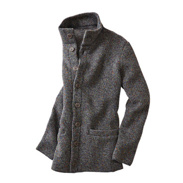 Strickjacke, grau