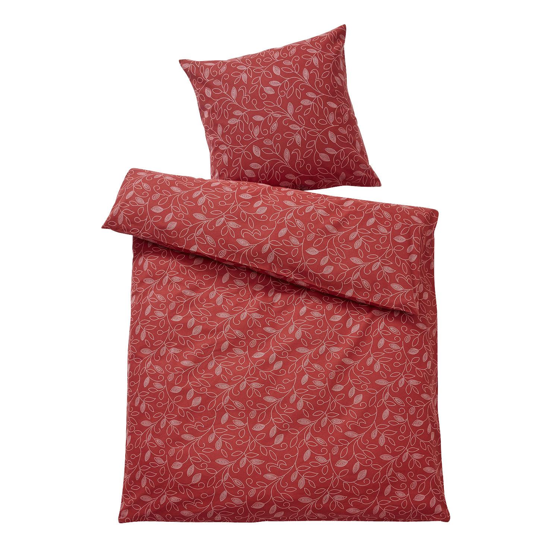 bio feinbiber bettw sche garnitur 2 tlg bordeaux. Black Bedroom Furniture Sets. Home Design Ideas