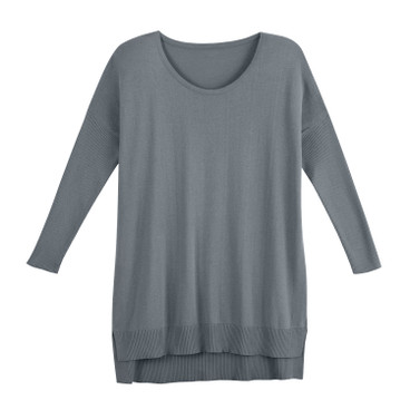 Oversized-Pullover, silbergrau