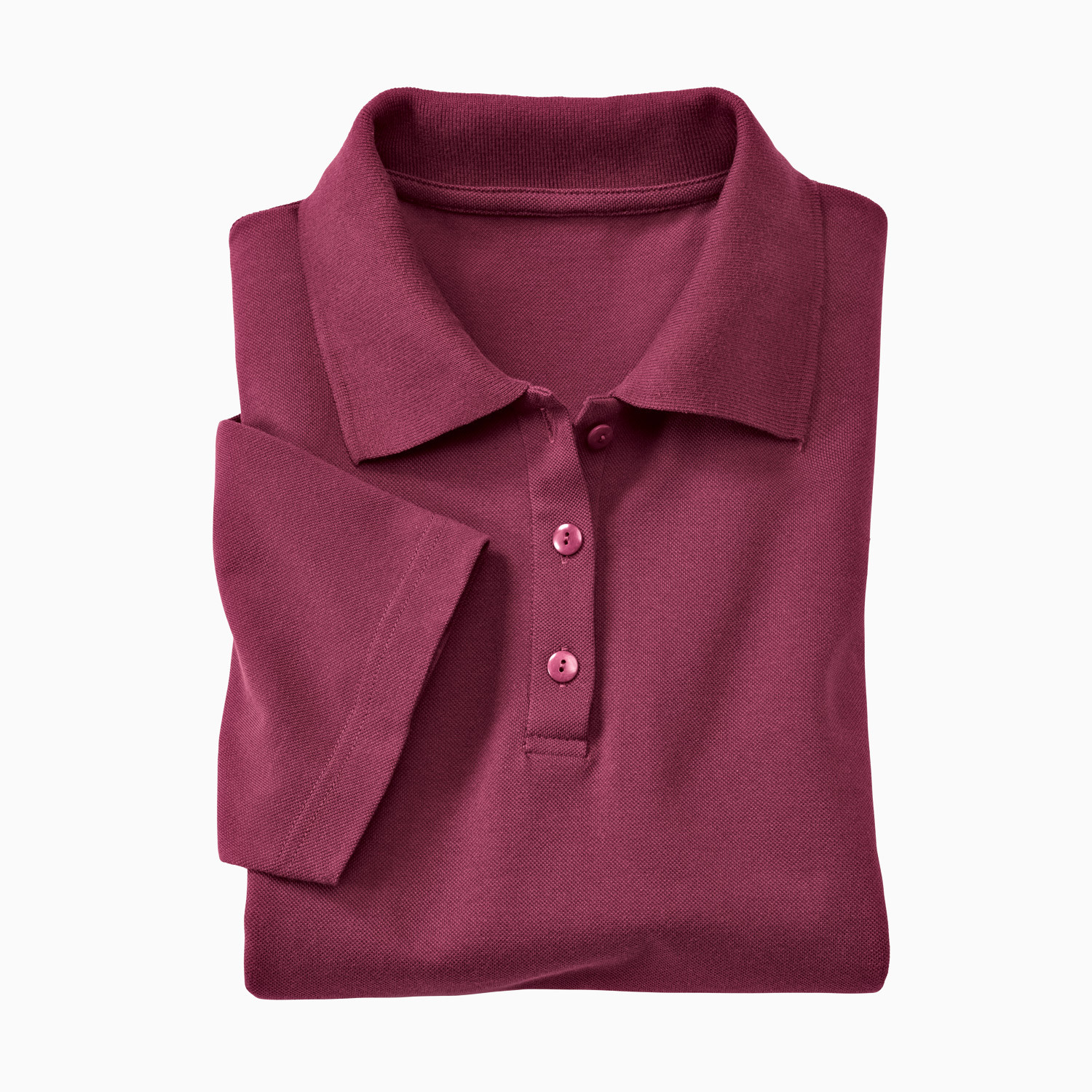 Polo-Kurzarmshirt, bordeaux