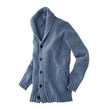 Strickjacke, jeans