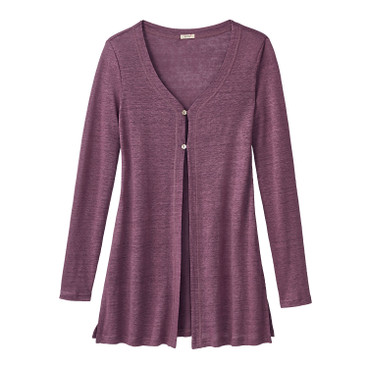 Long-Cardigan, cassis