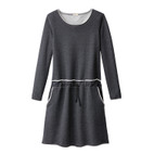 Sweatkleid 1/1A,anthrazit-mela