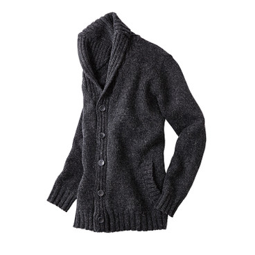 Strickjacke, anthrazit