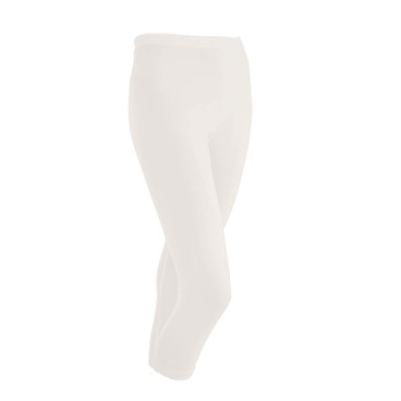 3/4-Seiden-Leggings, natur