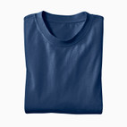 Basic-T-Shirt, marine