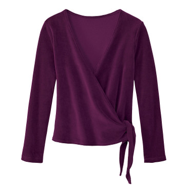 Nicki-Wickeljacke aus Bio Baumwolle, purple