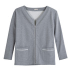 Sweat-Jacke oversized,grau-mel