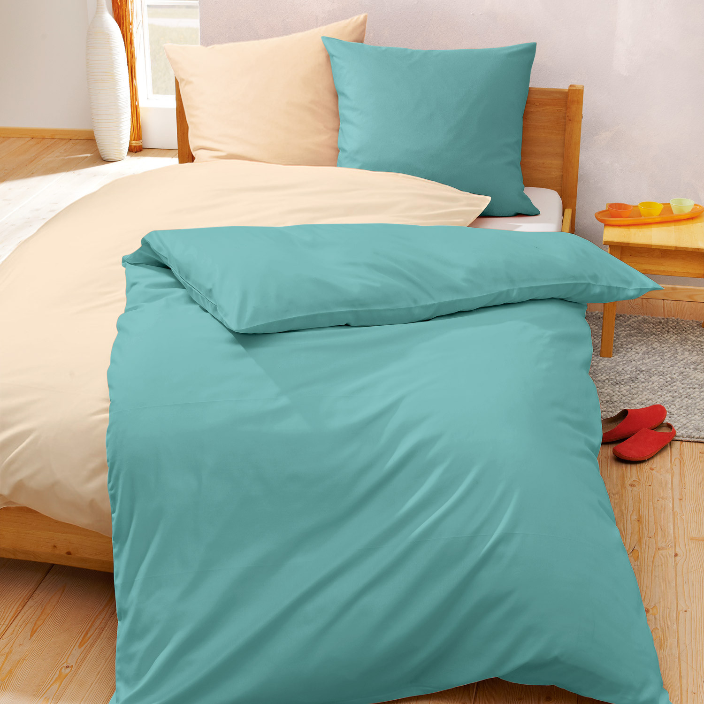 linon bettw sche programm in bio qualit t jade. Black Bedroom Furniture Sets. Home Design Ideas