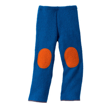 Wollwalk-Hose, blau/orange