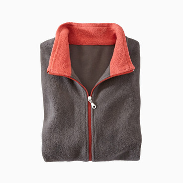 Fleece-Jacke, anthrazit/rost