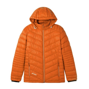 Steppjacke Herren mit Kapuze, orange