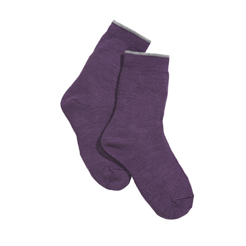 Wolle/Baumwoll-Socken, purple